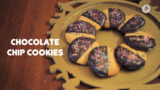 Diwali Treats - Belgian chocolate dipped chocolate chip cookie
