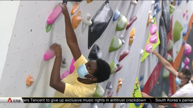 US gyms hope climbing, surfing's inclusion in Olympics will help post-COVID-19 recovery | Video
