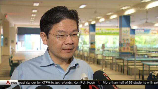 COVID-19 measures in school still necessary given risk of family clusters: Lawrence Wong | Video