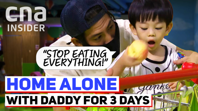 Home alone with Daddy for three days