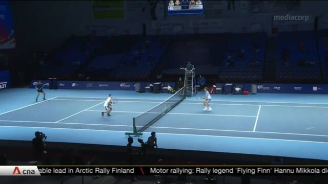 250 spectators allowed to attend Singapore Tennis Open final matches | Video