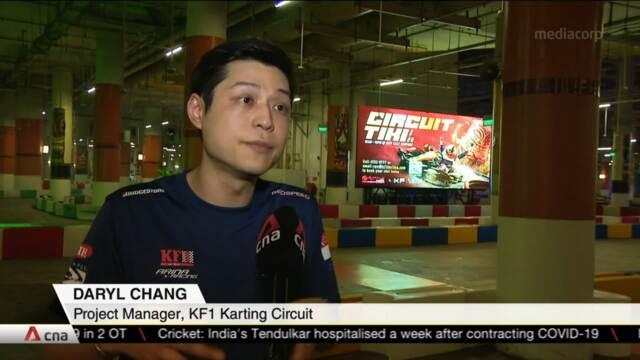Empty car parks transformed into go-kart circuit, arts exhibition amid COVID-19 | Video