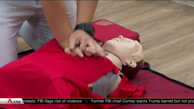 Singapore Heart Foundation launches 'first of its kind' female CPR manikin vest for training use | Video
